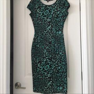 XOXO cap sleeve animal print dress